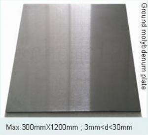 Ground molybdenum plate