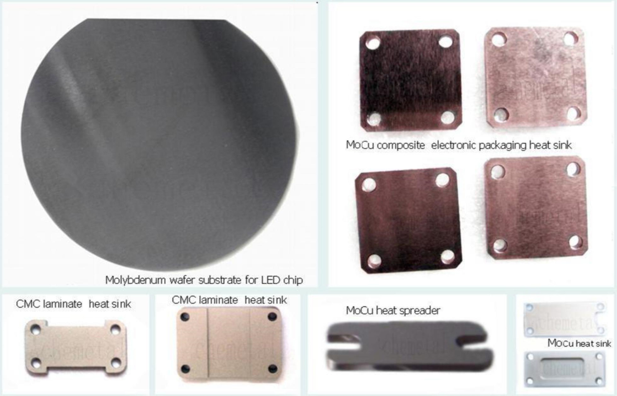 Molybdenum Copper heat spreader